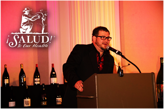 Speaker at Salud Auction