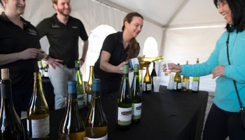 Pouring Tastes of Wine in Folsom at Roof Raising