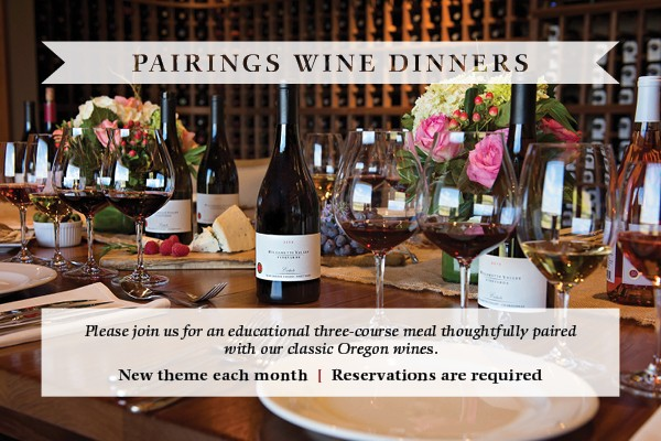 Please join us for Parings Wine Dinners, a new theme each month