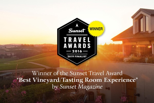 Winner of the Sunset Travel Award -- Best Vineyard / Tasting Room Experience