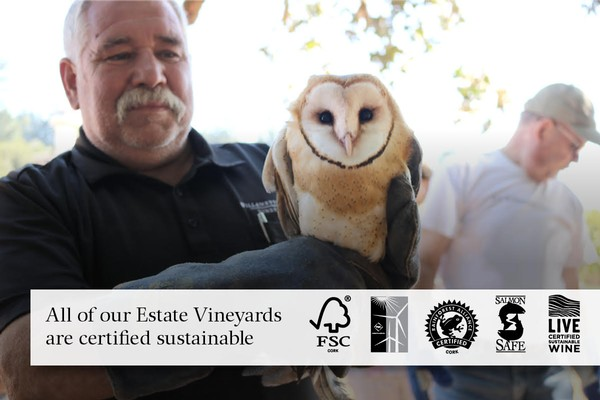 Randy with barn owl