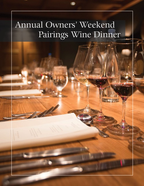 July 13th, 2019 Owners' Wine Pairing Dinner