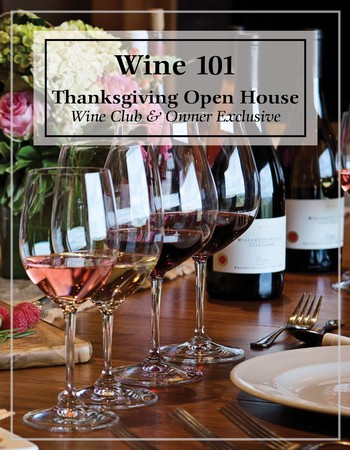 Wine 101 Session for Thanksgiving Weekend - Friday, November 24th